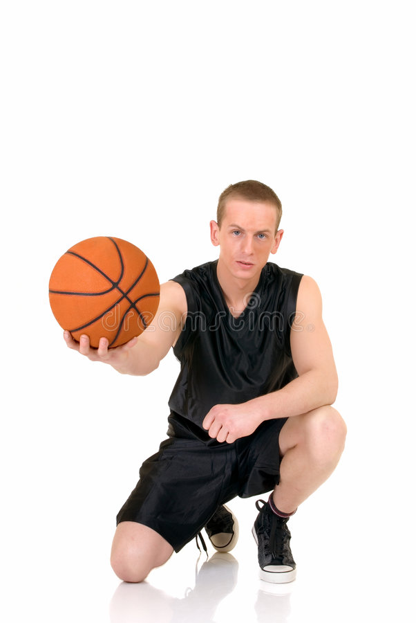篮球男性球员年轻人 免版税库存照片