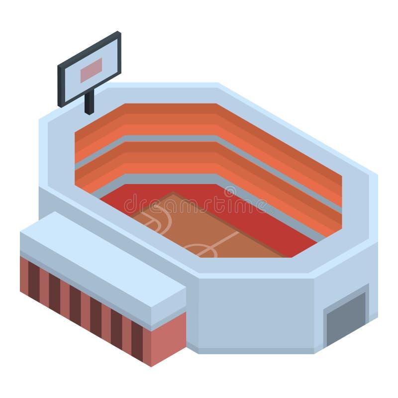 篮球竞技场象,等量样式 皇族释放例证