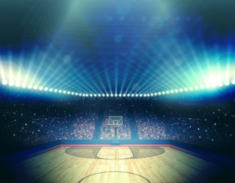 篮球竞技场 向量例证