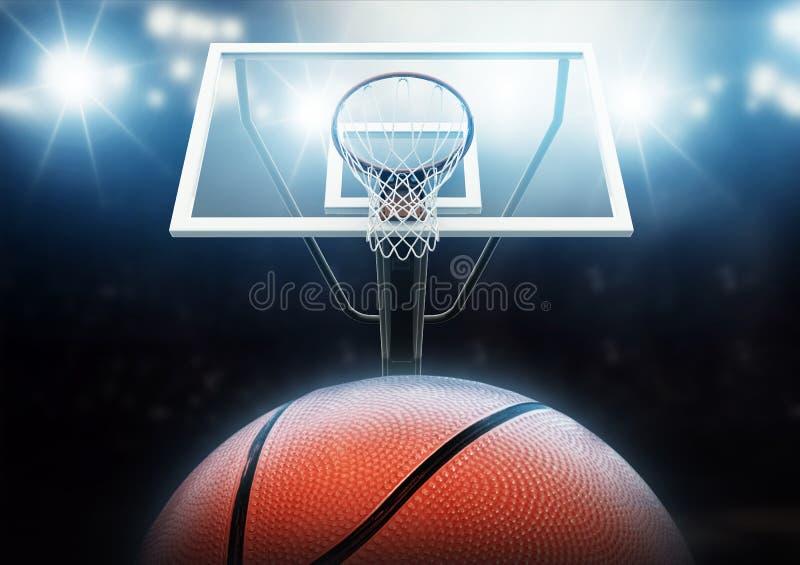 篮球竞技场 皇族释放例证