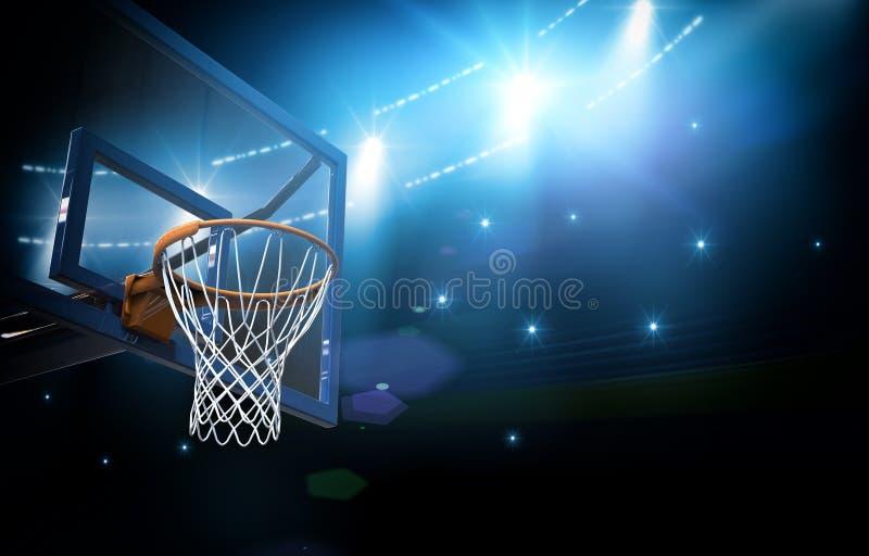 篮球竞技场3d 皇族释放例证