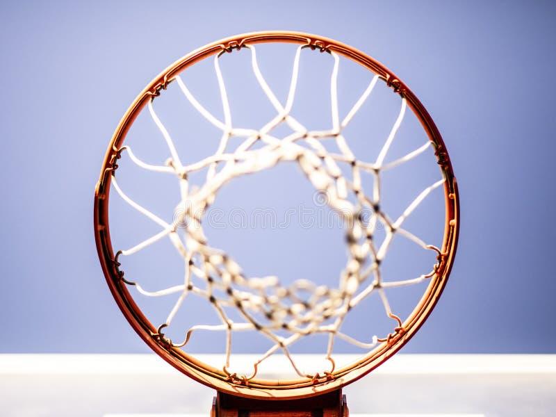 篮球篮从上面射击了 库存照片