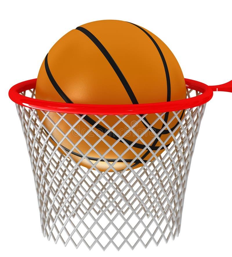 篮球篮和球 向量例证