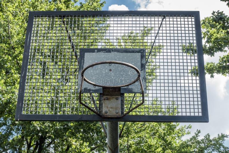 篮球篮子难看的东西 免版税图库摄影