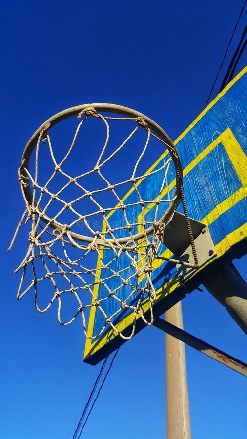 篮球篮子 免版税库存照片