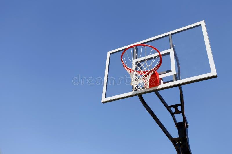 篮球篮 免版税图库摄影