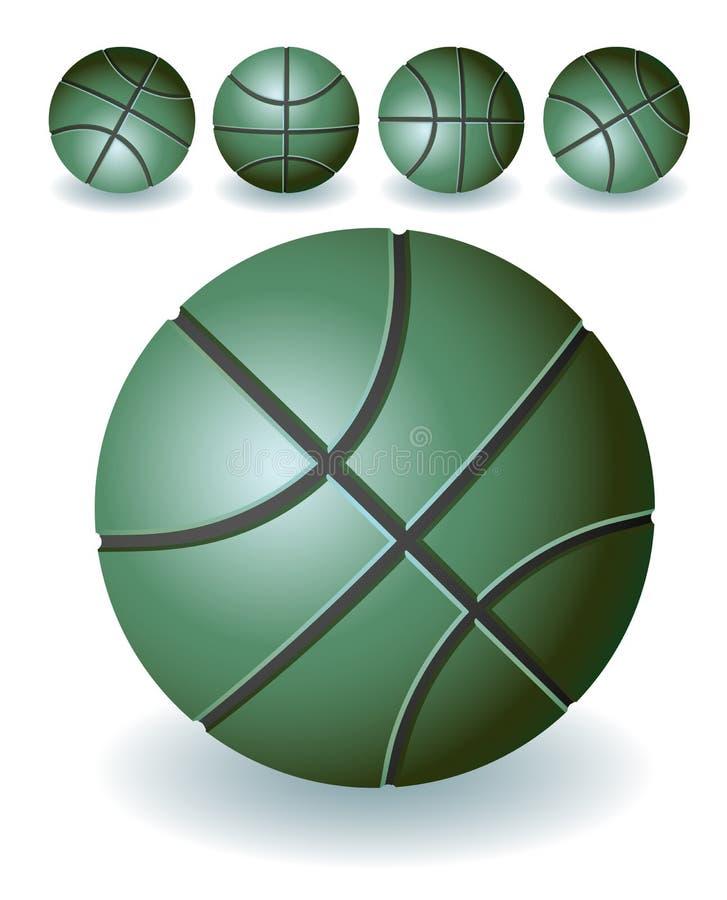 篮球绿色 向量例证