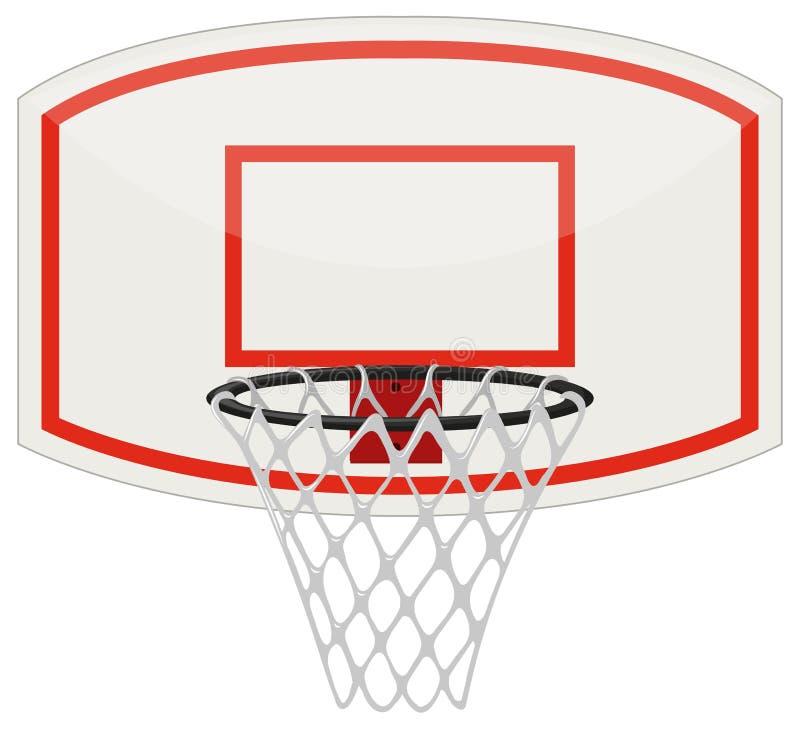 篮球网和箍 库存例证