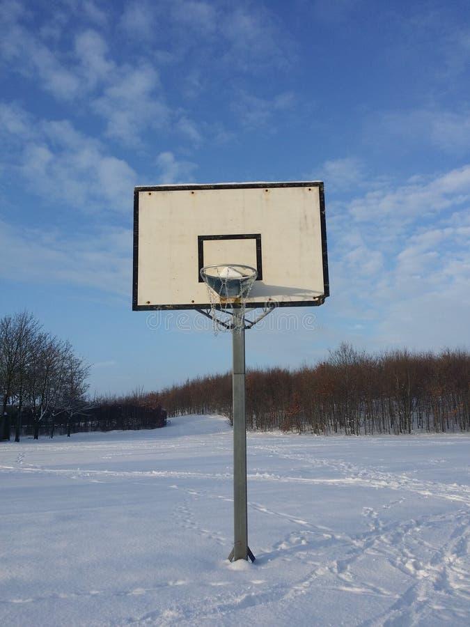 篮球网 免版税库存图片