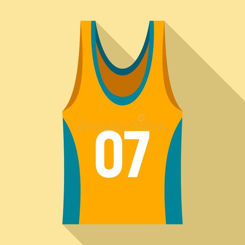 篮球背心象,平的样式 向量例证