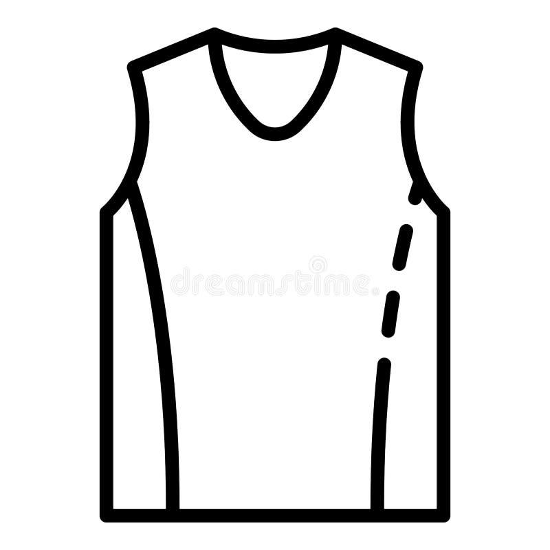 篮球背心象,概述样式 皇族释放例证