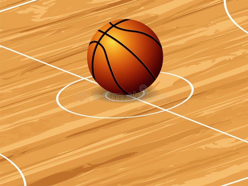 篮球背景 向量例证