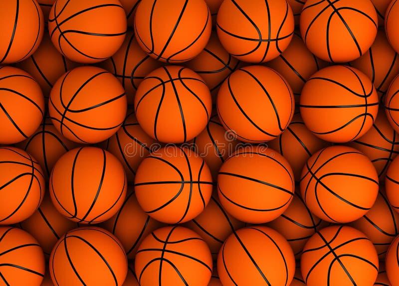 篮球背景 皇族释放例证