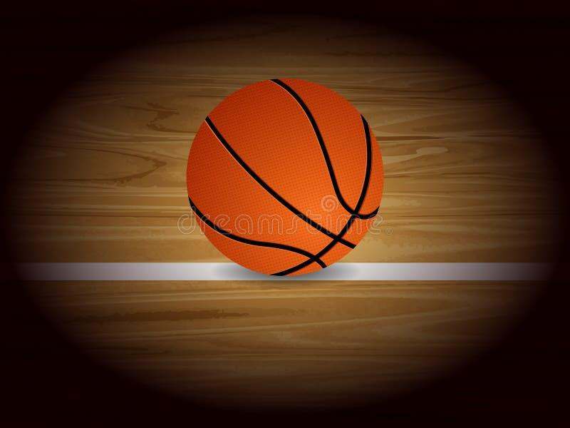 篮球背景 库存例证