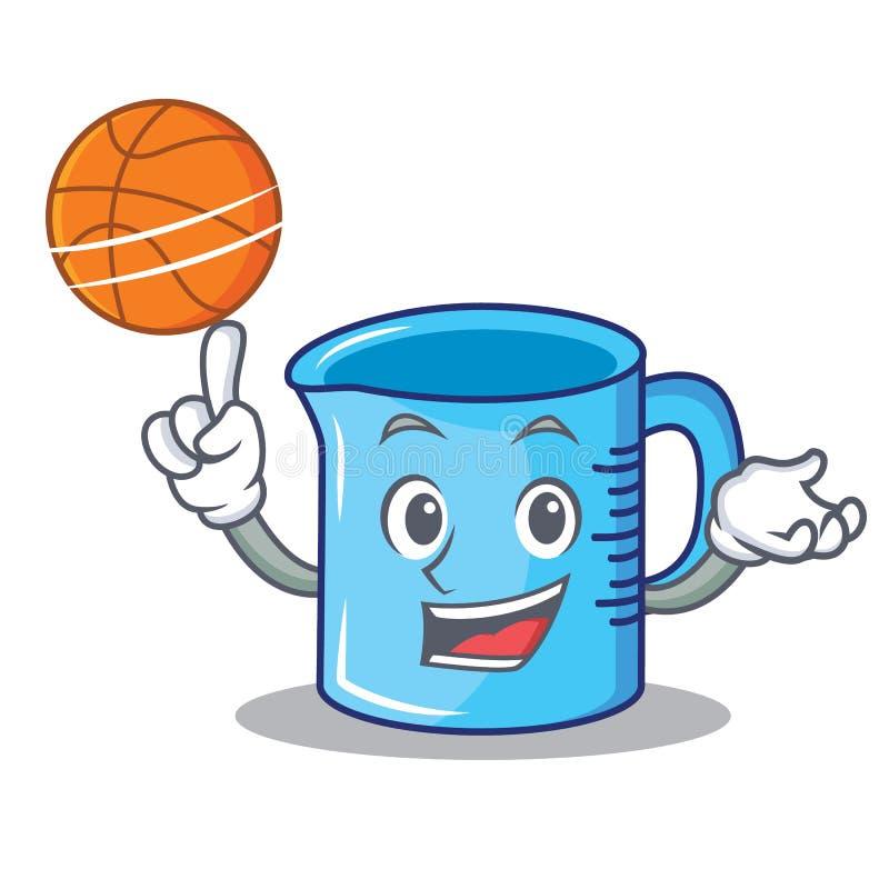 篮球量杯字符动画片 向量例证
