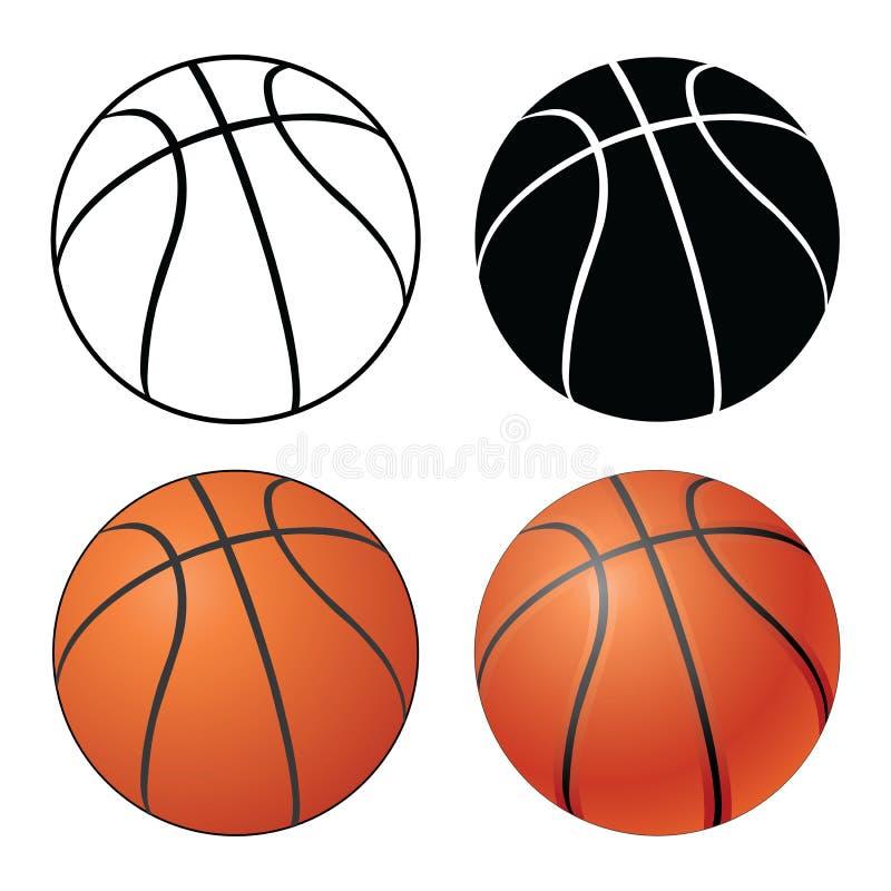 篮球 向量例证