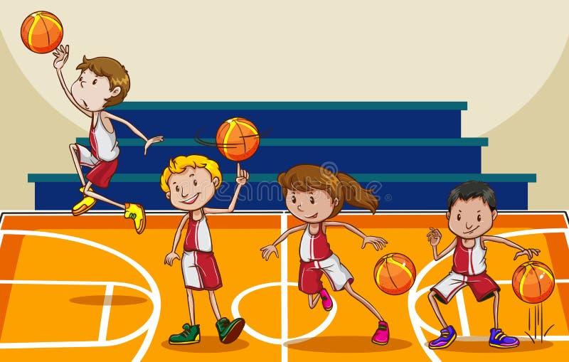 篮球 皇族释放例证