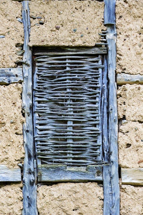 篱笆条和涂抹在Chuypetlovo构造背景,保加利亚 免版税库存图片