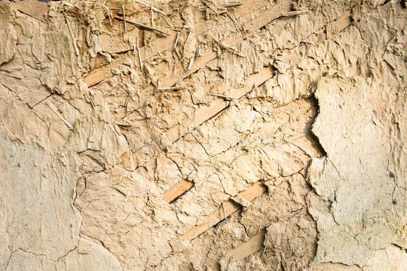 篱笆条和涂抹墙壁纹理 免版税库存照片