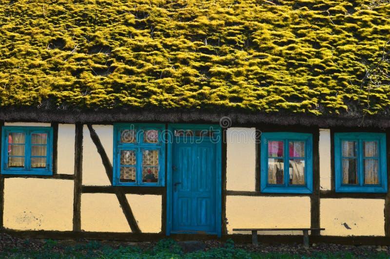 篱笆条和涂抹房子 免版税图库摄影