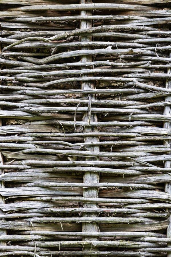篱笆条和涂抹纹理背景 免版税库存照片