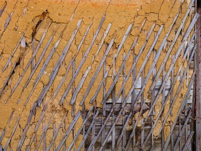 篱笆条和涂抹纹理 免版税库存照片