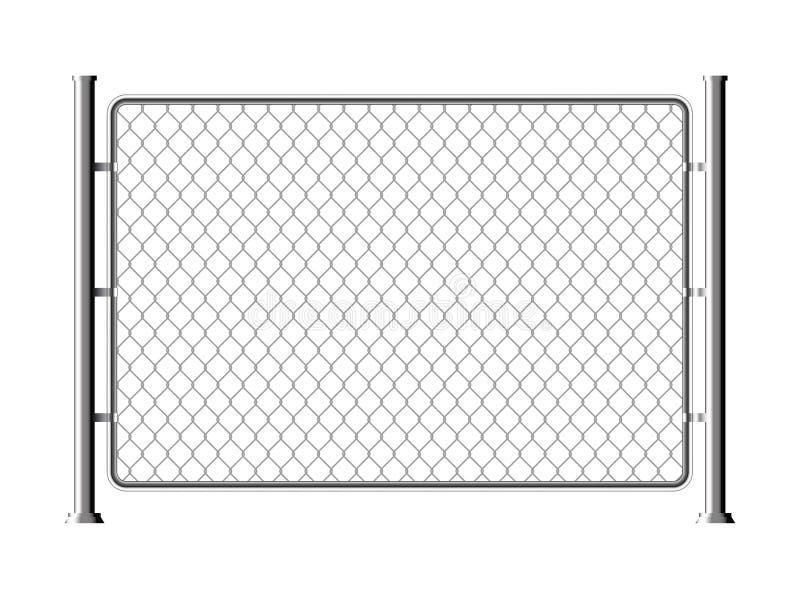 篱芭导线金属链节 滤网钢净纹理篱芭笼子栅格墙壁 向量例证