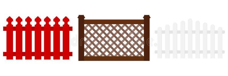 篱芭象 向量例证
