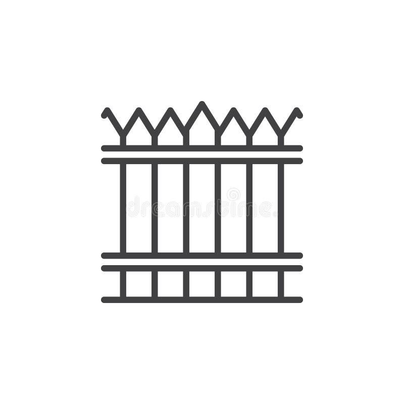 篱芭,木墙壁线象 皇族释放例证
