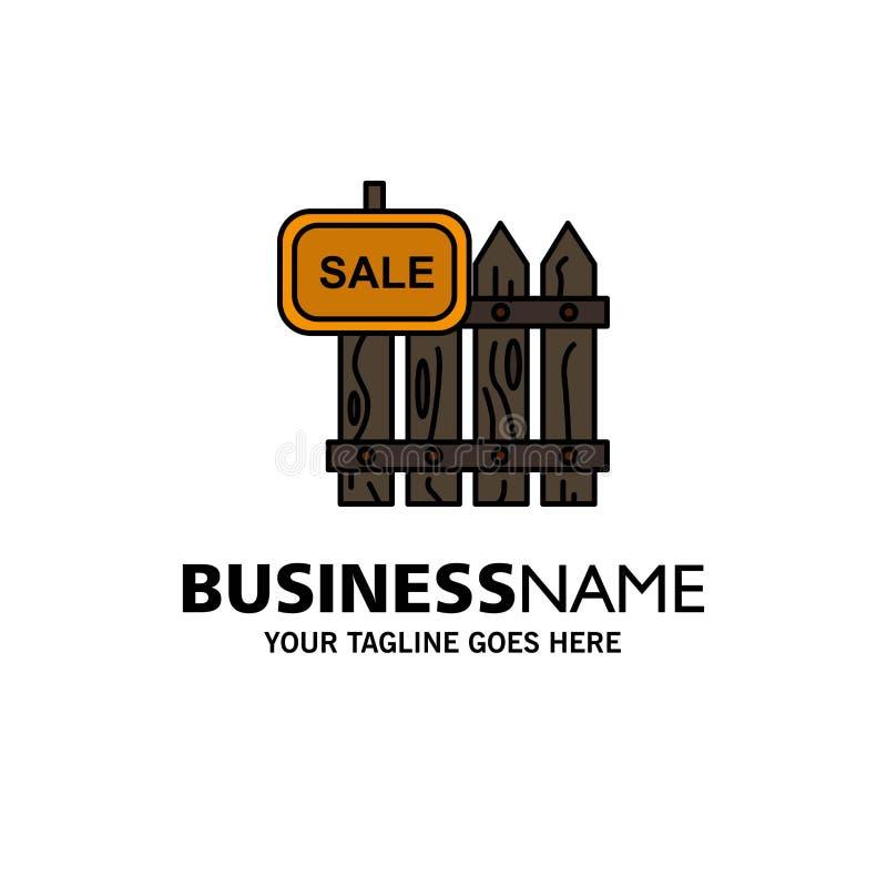篱芭,木头,不动产,销售,庭院,议院企业商标模板 o 向量例证