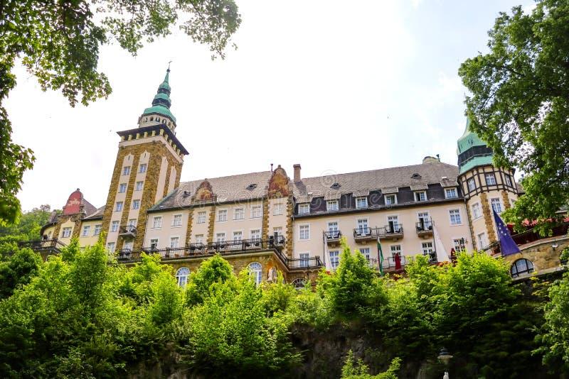 米什科尔茨,匈牙利,2019年5月20日:城堡旅馆Palota在Lillafured,米什科尔茨 免版税图库摄影