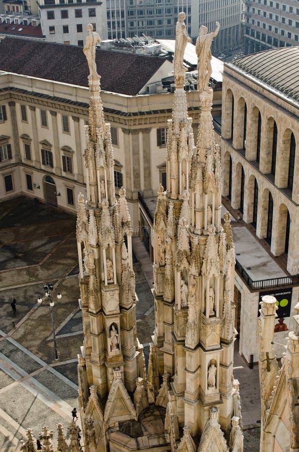 米兰中央寺院三雕象 库存照片
