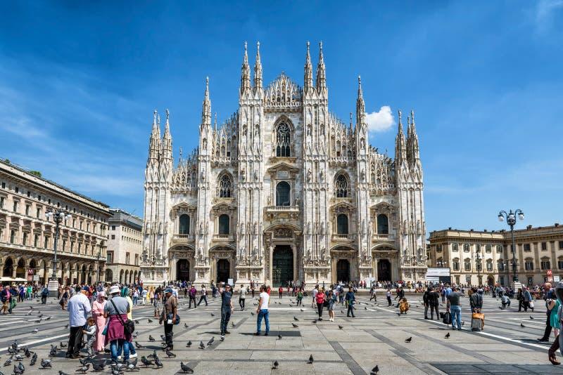 米兰大教堂中央寺院二米兰,意大利 免版税图库摄影