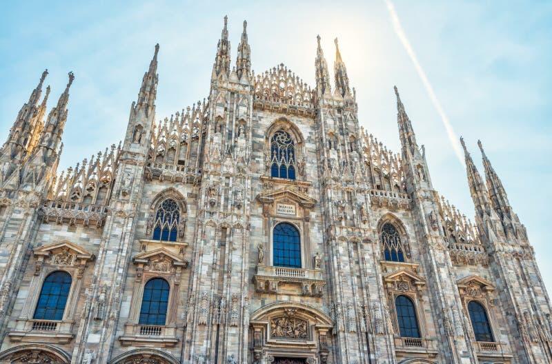 米兰大教堂在意大利 图库摄影