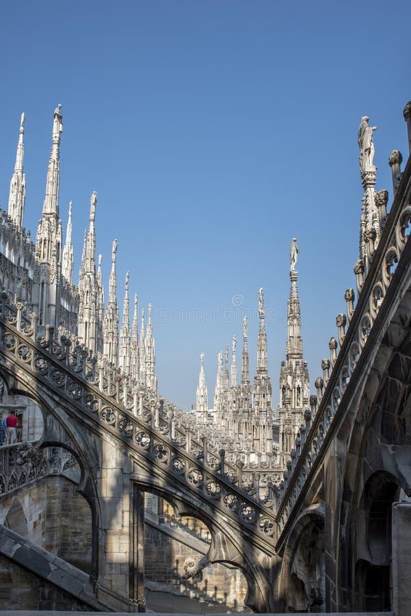 米兰大教堂,中央寺院二米兰,出生的圣玛丽,意大利 免版税库存照片