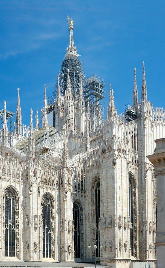 米兰大教堂(1386-1965),米兰,意大利 免版税库存照片