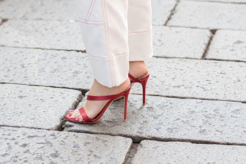 米兰妇女时尚星期2018年 免版税库存图片