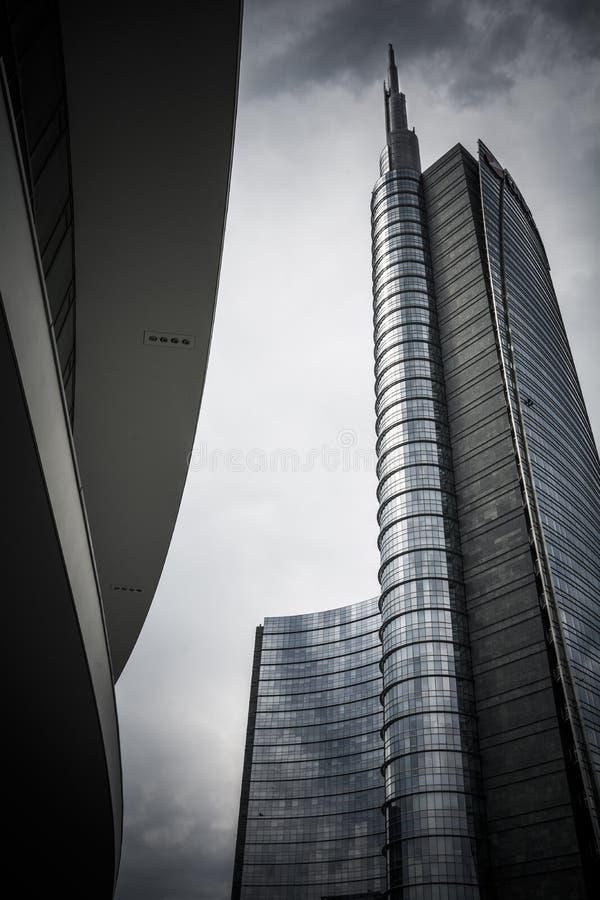 米兰摩天大楼 免版税库存照片