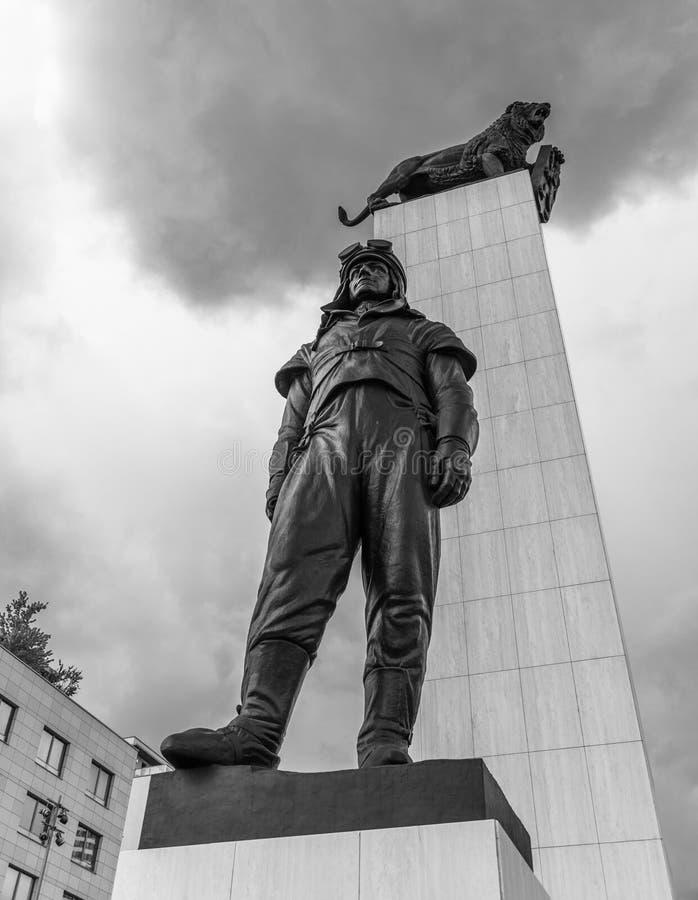 米兰罗斯季斯拉夫Stefanik雕象II 图库摄影
