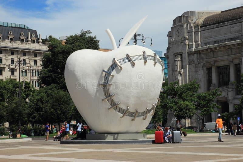 米兰苹果计算机中央驻地 免版税图库摄影