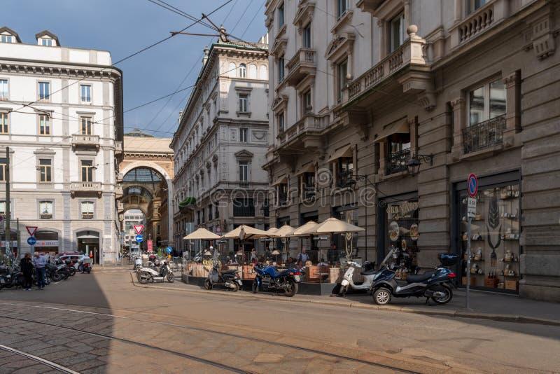 米兰街道视图 库存照片