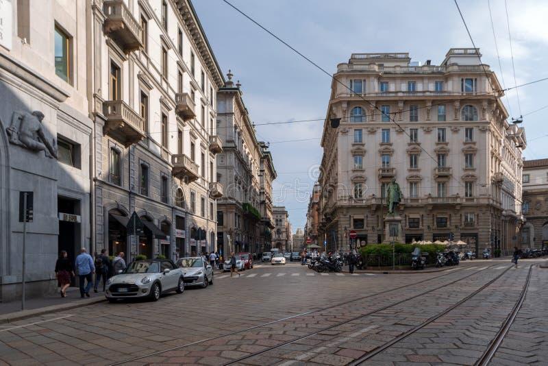 米兰街道视图 免版税库存图片