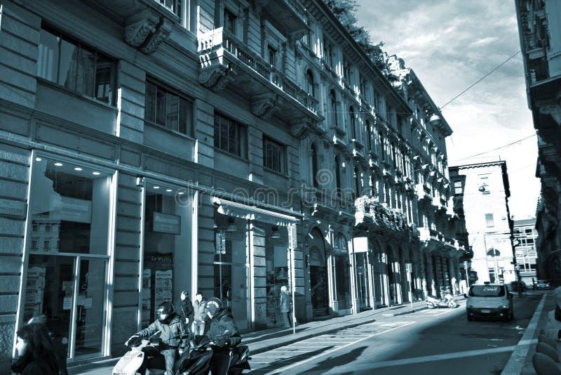米兰街道 免版税库存图片