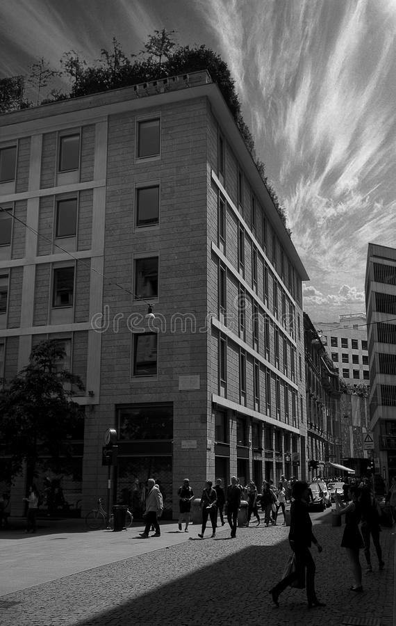 米兰街 免版税库存照片