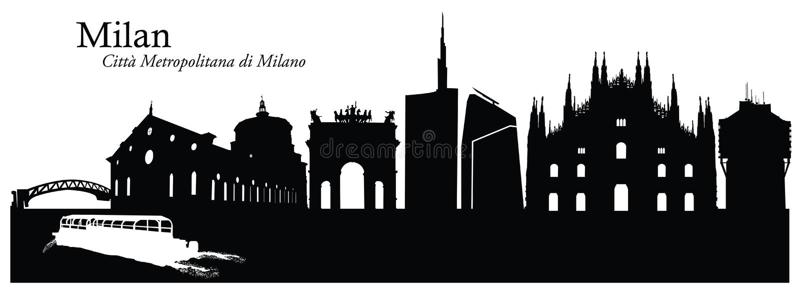 米兰都市风景地平线的传染媒介例证