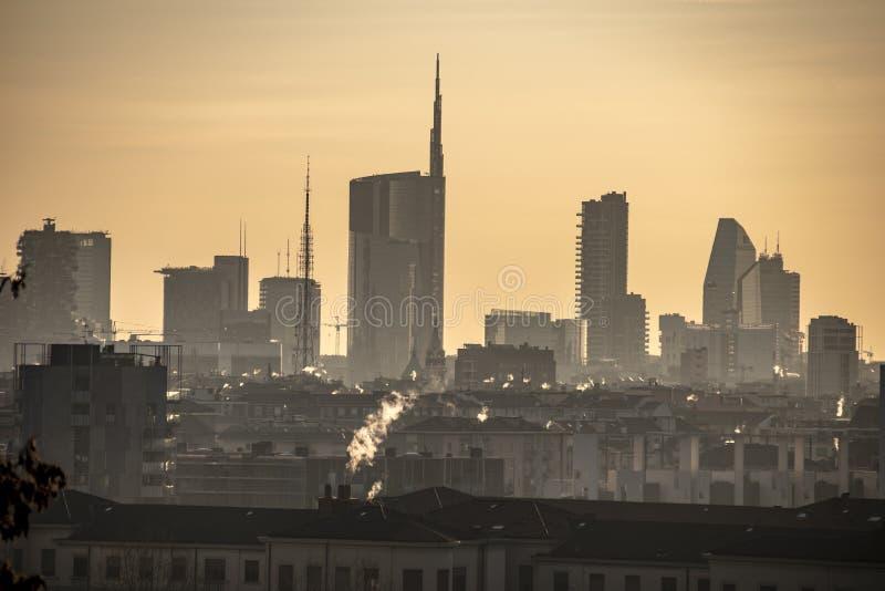 米兰风景,意大利 免版税库存图片
