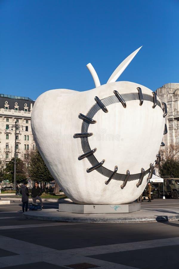 米兰,意大利大苹果计算机  免版税图库摄影
