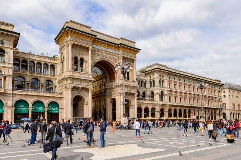 米兰,意大利建筑学  免版税图库摄影