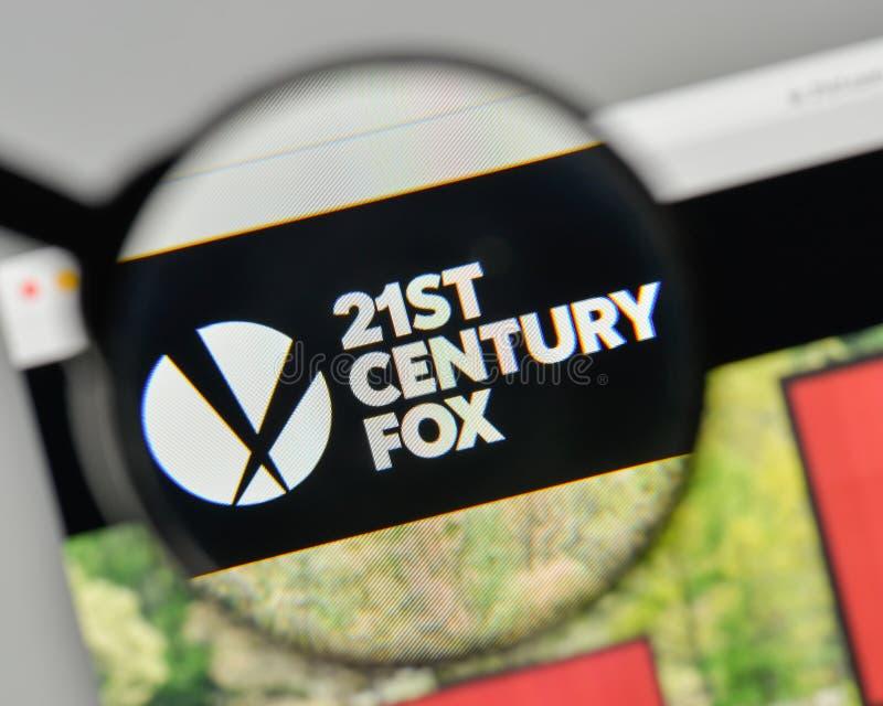 米兰,意大利- 2017年11月1日:在的21世纪Fox商标我们 免版税库存照片