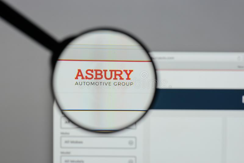米兰,意大利- 2017年8月10日:Asbury汽车小组商标 免版税库存图片